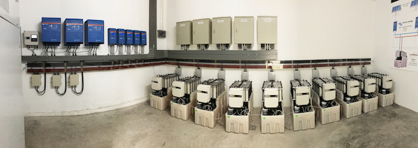 Victron inverters with Redflow batteries at Ban Pha Dan Thailand W