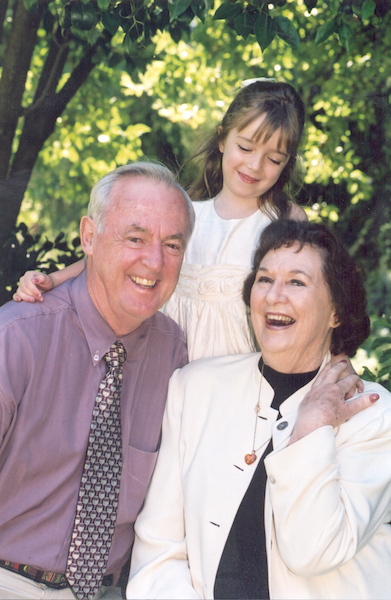 Diane Beer with partner Robin and granddaughter Eden (2004)